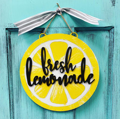 Lemonade Sign, $40
