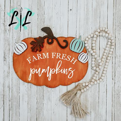 3D Pumpkin Sign