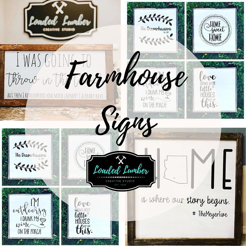 Framed Farmhouse Signs - April 15th, 2020