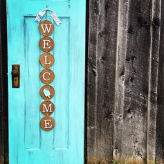 Interchangeable Welcome Sign, $50