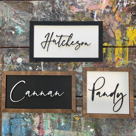 3D Custom Name Signs, $40 and up