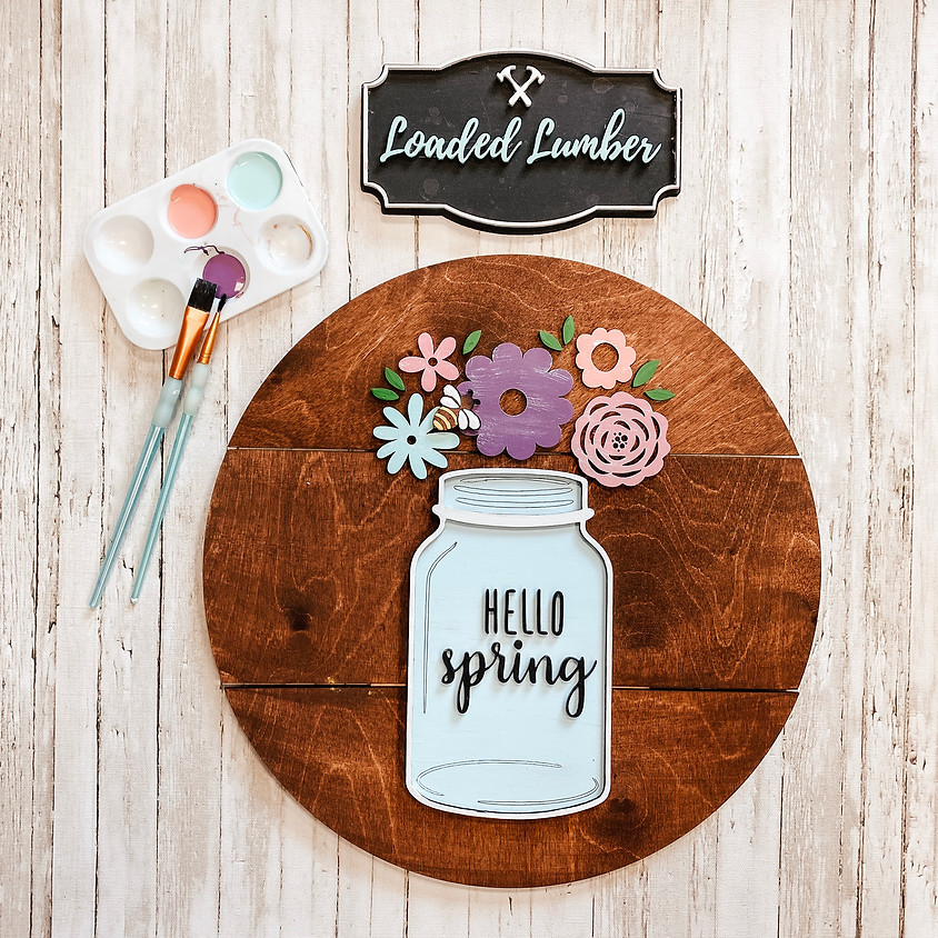 Hello Spring 3D Sign, April 10th