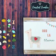 Llama Interchangable Sign, $40