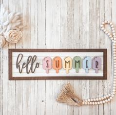 Summer Farmhouse Sign, $40
