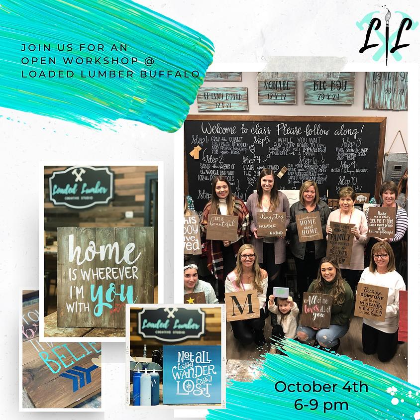 DIY Workshop - Pallet Signs - October 4th - 6 to 9pm