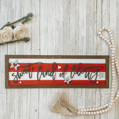 Farmhouse July 4th Sign, $45