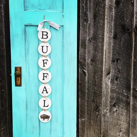 Interchangeable Buffalo Sign, $50