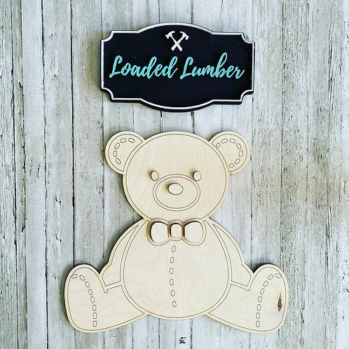 3D Teddy Bear Cut Out