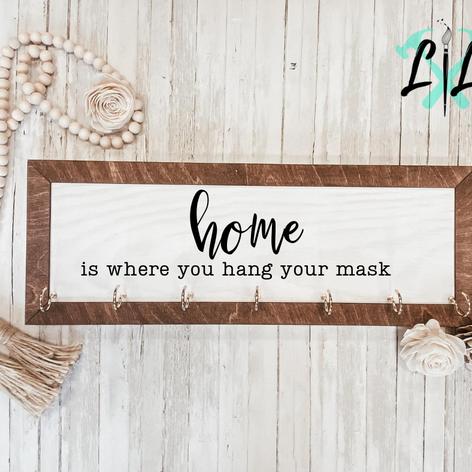 Framed Mask Sign, $45