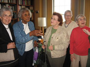 2007 Board Meeting:  Agnes Zellner, Delores Coruthers, Bonnie Umeh, Dianne Luhmann and Marion Krentz