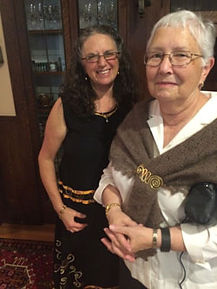 2016 Treasure Tea:  Pres. Dianne Luhmann and hostess Raiselle Resnick