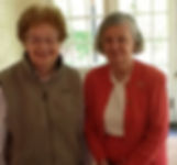 Luncheon at Marilyn's house(2012?):  Janice Spofford and Marilyn Helmholz