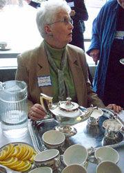 2/2010 Program Meeting:  Charlotte Johnston serves tea