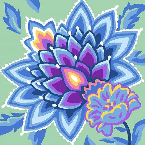 Grafitec Printed Tapestry Jacobean Blue