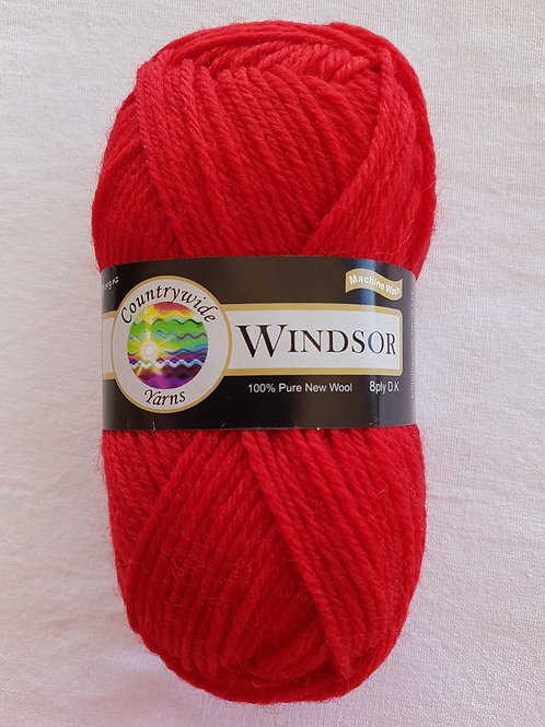 Windsor Standard 8 PLY DK 100% Wool 50gm Red