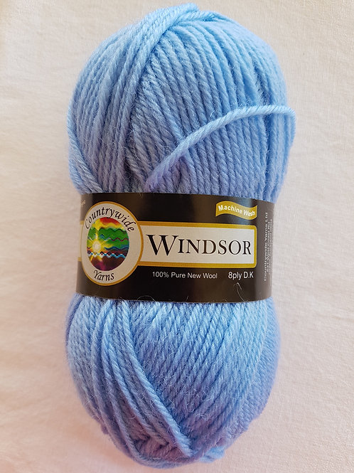Windsor Standard 8 PLY DK 100% Wool 50gm Baby Blue