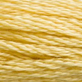 DM117-3822 STRANDED COTTON 8M SKEIN Light Straw Yellow