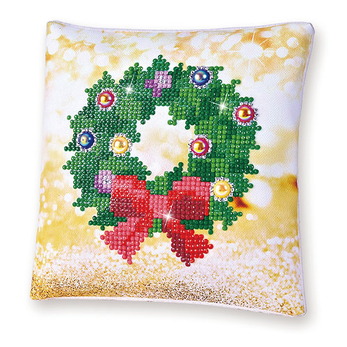 Diamond Dotz Christmas Wreath (Mini Pillow)