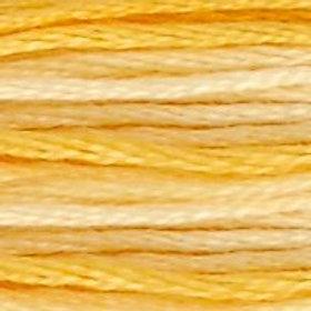 DM117-0090 STRANDED COTTON 8M SKEIN Variegated Yellow