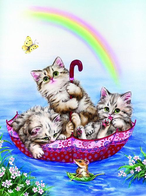 Grafitec Printed Tapestry Rainbow Kittens