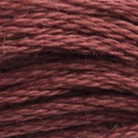 DM117-3858 STRANDED COTTON 8M SKEIN Medium Red Wine