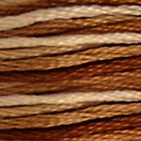 DM117-0105 STRANDED COTTON 8M SKEIN Variegated Tan/Brown