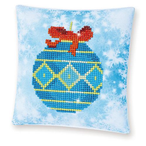 Diamond Dotz Blue Bauble (Mini Pillow)