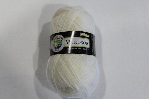 Windsor Standard 8 PLY DK 100% Wool 50gm White