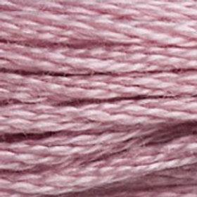 DM117-3727 STRANDED COTTON 8M SKEIN Lichee Mauve