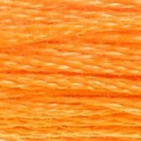 DM117-0741 STRANDED COTTON 8M SKEIN Tangerine Orange
