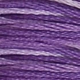 DM117-0052 STRANDED COTTON 8M SKEIN Variegated Violet