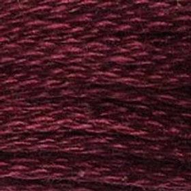 DM117-0814 STRANDED COTTON 8M SKEIN Deep Wine Red