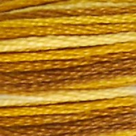 DM117-0111 STRANDED COTTON 8M SKEIN Variegated Mustard
