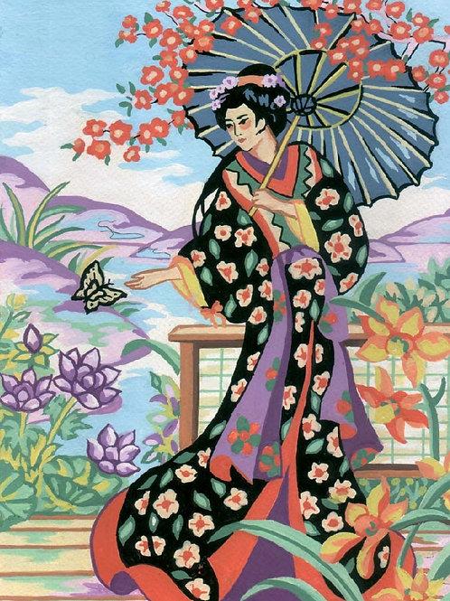 Grafitec Printed Tapestry Geisha in Parasol