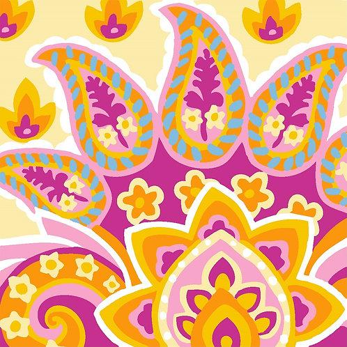 Grafitec Printed Tapestry Jacobean Pink