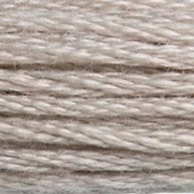 DM117-0453 STRANDED COTTON 8M SKEIN Turtledove Grey