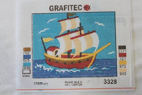 Grafitec Printed Tapestry Sailing Ship