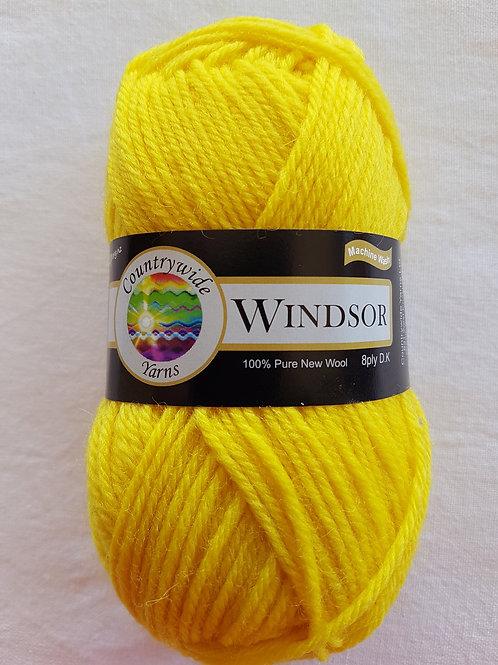 Windsor Standard 8 PLY DK 100% Wool 50gm Yellow