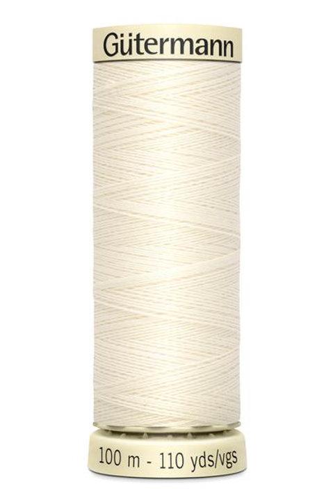 Gutermann Sew all Thread 100% polyester 100m #001