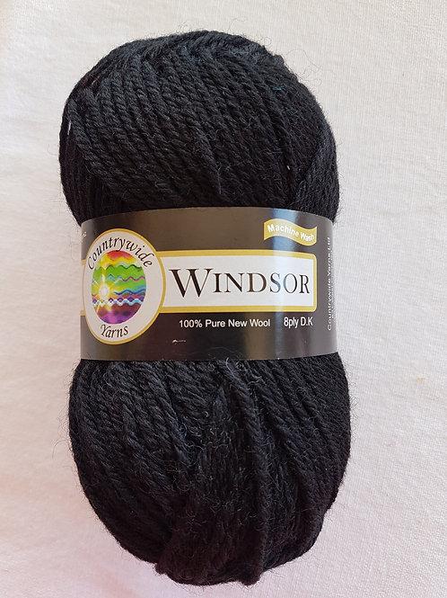 Windsor Standard 8 PLY DK 100% Wool 50gm Black