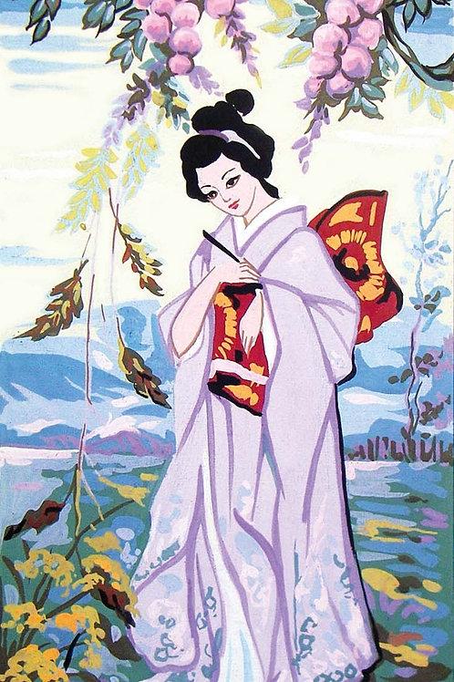 Grafitec Printed Tapestry Geisha in Spring
