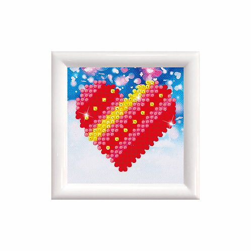 Patchwork Heart kit with frame