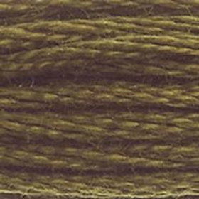 DM117-0830 STRANDED COTTON 8M SKEIN Green Oak Brown