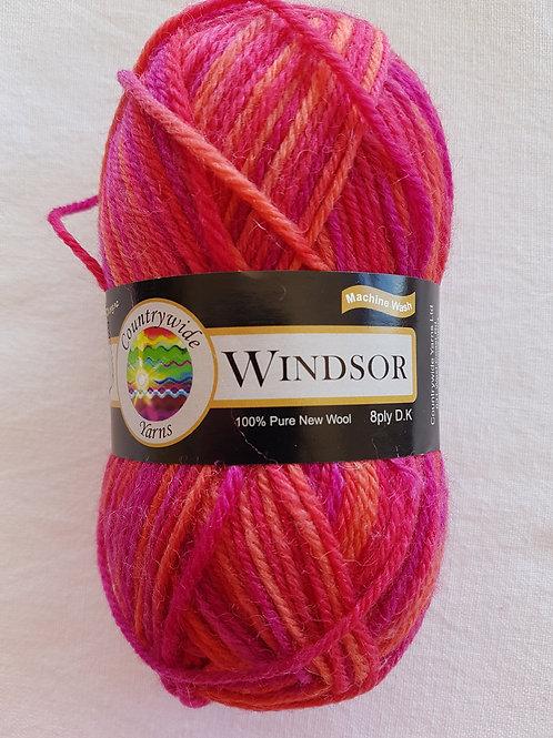 Windsor Print 8 PLY DK 100% Wool 50gm