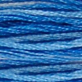 DM117-0121 STRANDED COTTON 8M SKEIN Variegated Delft Blue