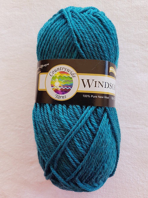 Windsor Standard 8 PLY DK 100% Wool 50gm Dark Teal