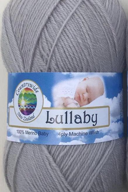 Lullaby 4 PLY DK 100% Merino 50gm Silver Grey
