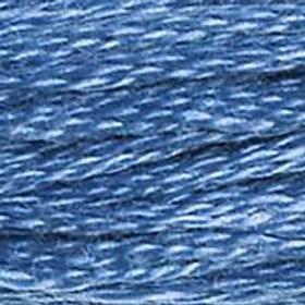 DM117-0826 STRANDED COTTON 8M SKEIN Medium Sea Blue