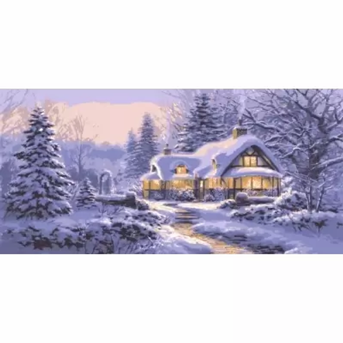 Grafitec Printed Tapestry Winter Cottage