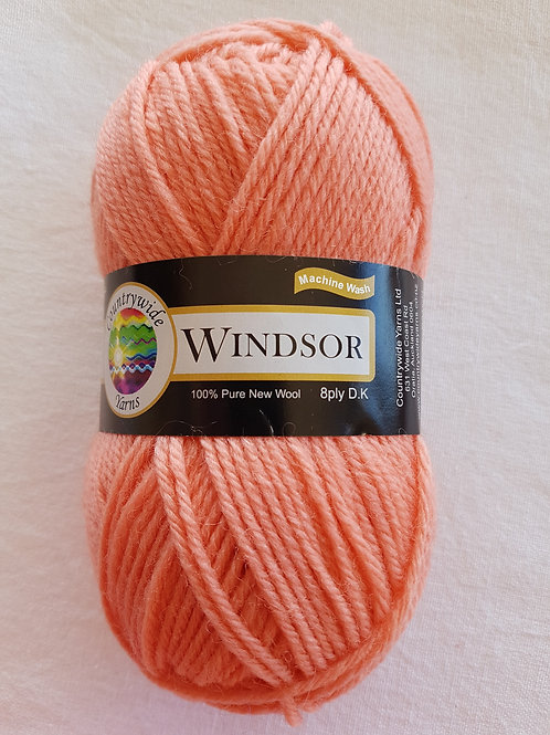 Windsor Standard 8 PLY DK 100% Wool 50gm Salmon